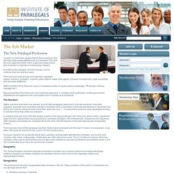 Institute of Paralegals - The Job Market