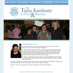 The Tutu Institute for Prayer & Pilgrimage | The Reverend Mpho A. Tutu