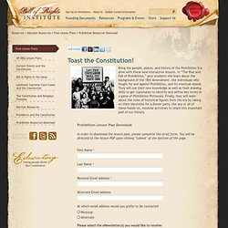 Bill of Rights Institute: Prohibition Resources Download