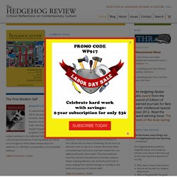 Institute for Advanced Studies In Culture: Publications - The Hedgehog Review