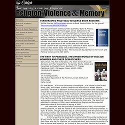 The Institute for the Study of Religion Violence and Memory