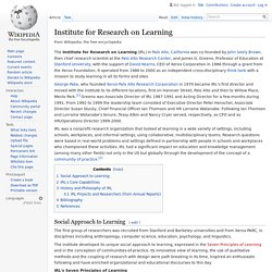Institute for Research on Learning