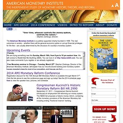 AMI (American Monetary Institute) - Monetary Reform and Solutions to the Financial Crisis