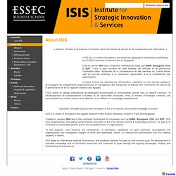 INSTITUT ISIS - The Institute for Service Innovation and Strategy