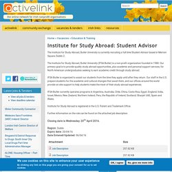 Institute for Study Abroad: Student Advisor