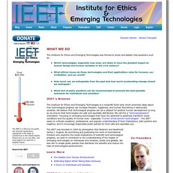 About the Institute for Ethics and Emerging Technologies