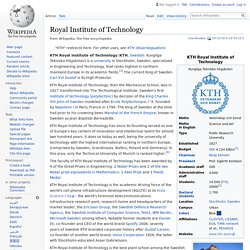 Royal Institute of Technology - Wikipedia
