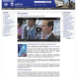 United Nations Institute for Training and Research (UNITAR)