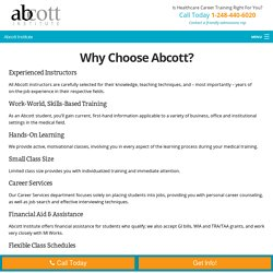 Why you should select Abcott Institute for Medical Training?