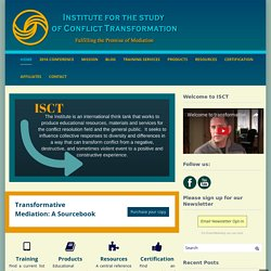 Institute for the Study of Transformative Mediation - Promoting the Transformative Model