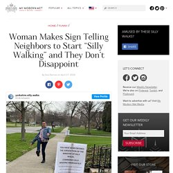 Woman Instituted Ministry of Silly Walks for Her Neighbors & They Do It