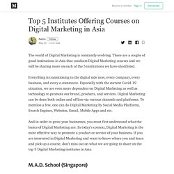 Top 5 Institutes Offering Courses on Digital Marketing in Asia