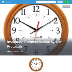 Institution Communication System Protocols (with image) · syncbells