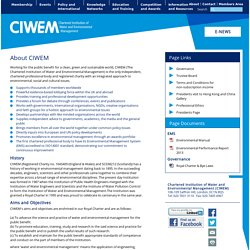 About - The Chartered Institution of Water and Environmental Management - About