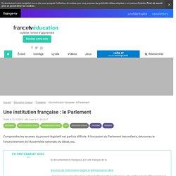 Une institution française : le Parlement - Francetv Éducation