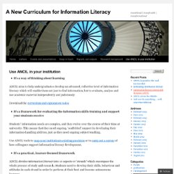 A New Curriculum for Information Literacy