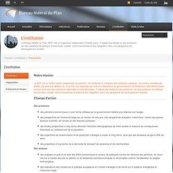 BELGIQUE, expertise, BFP Bureau Fédéral du Plan