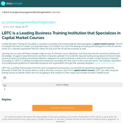 LBTC is a Leading Business Training Institution that Specializes in Capital Market Courses