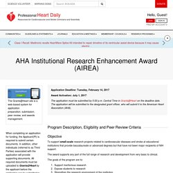 AHA Institutional Research Enhancement Award (AIREA)