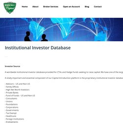 Institutional Investor Database