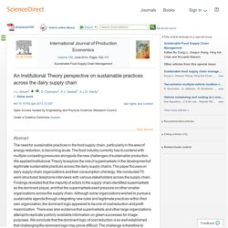 An Institutional Theory perspective on sustainable practices across the dairy supply chain