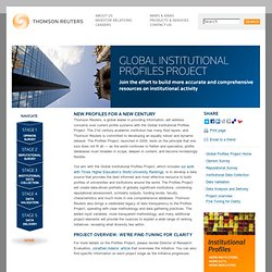 Global Institutional Profiles Project