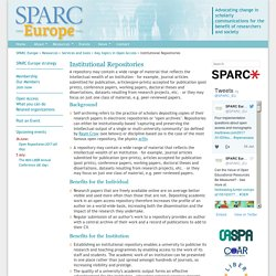 SPARC Europe - Institutional Repositories