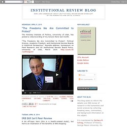Institutional Review Blog
