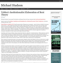 Veblen's Institutionalist Elaboration of Rent Theory