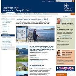 Nordkurs sommarkurser i Norden 2019 - Institutionen för svenska och flerspråkighet