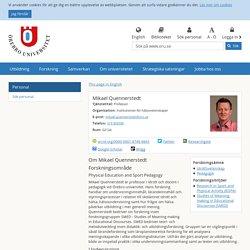 Mikael Quennerstedt - Institutionen för hälsovetenskaper - Örebro universitet