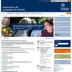 Institutionen för pedagogik och didaktik