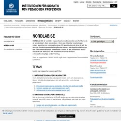 NORDLAB.SE - Institutionen för didaktik och pedagogisk profession, Göteborgs universitet
