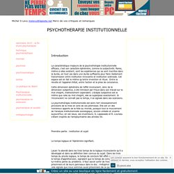 psychotherapie institutionnelle psychose