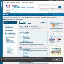 Ressources institutionnelles — Documentation (CDI)
