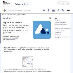 Apps.education, des outils institutionnels pour communiquer, collaborer, partager et publier