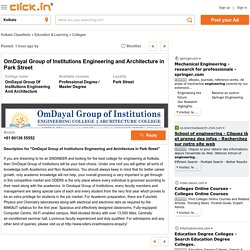 OmDayal Group Of Institutions Engineering And Architecture In Park Street - Professional Degree, Master Degree College In Park Street Kolkata