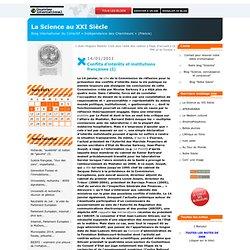 """BLOG DU COLLECTIF """"INDEPENDANCE DES CHERCHEURS"""" (France) 14/01/11 Conflits d'intérêts et institutions françaises (I)"""