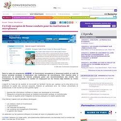 Un Code européen de bonne conduite pour les institutions de microfinance