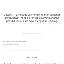 The role of mobile learning and the possibilities of data-driven language learning.