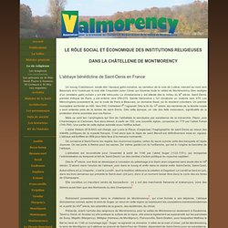 Les institutions religieuses - Association Valmorency