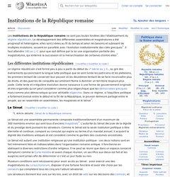 Institutions de la République romaine