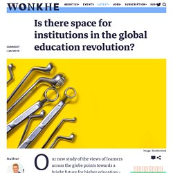 Is there space for institutions in the global education revolution?