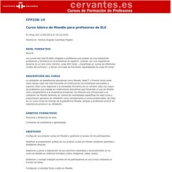 Instituto Cervantes. CFP. Cursos del Instituto Cervantes