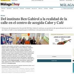 Del instituto Ben Gabirol a la realidad de la calle en el centro de acogida Calor y Café