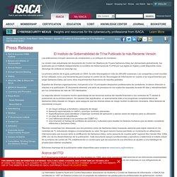 El Instituto de Gobernabilidad de TI ha Publicado la más Reciente Versión