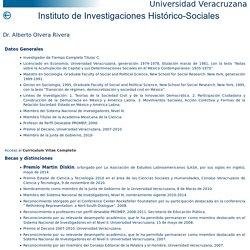 Dr. Alberto Olvera Rivera - Instituto de Investigaciones Histórico-Sociales