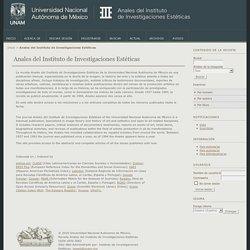 Anales del Instituto de Investigaciones Estéticas