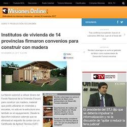 Institutos de vivienda de 14 provincias firmaron convenios para construir con madera