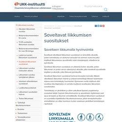 UKK-instituutti - Soveltavat liikkumisen suositukset